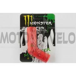 Резинка заводной ножки MONSTER ENERGY (универсальная, красная) XJB
