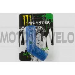 Резинка заводной ножки MONSTER ENERGY (универсальная, синяя) XJB