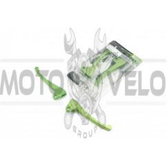 Рычаги руля Yamaha JOG 50 (голые) (тюнинг, барабан/барабан, зеленые) YMBT