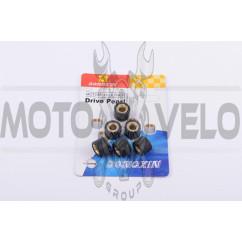Ролики вариатора 4T GY6 125/150 18*14 10,5г (черные) DONGXIN