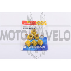 Ролики вариатора (тюнинг) Suzuki 17*12 10г (желтые) DONGXIN