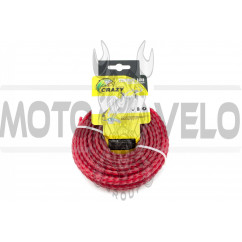 Леска мотокосы Ø4,0mm, 15 метров (косичка, красная)