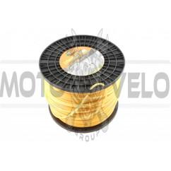 Леска мотокосы Ø5,0mm, 200 метров (круглая, желтая)
