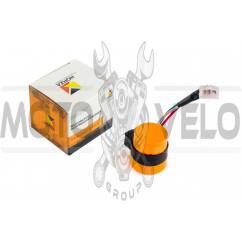 Реле поворотов 4T GY6 50-150 (3 провода, В-class) (оранжевое)