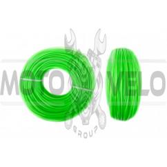 Леска мотокосы Ø1,6mm, 100 метров (звезда, зеленая) BEST