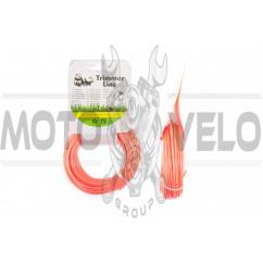 Леска мотокосы Ø2,0mm, 15 метров (звезда, красная) BEST