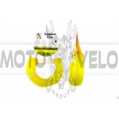 "Леска мотокосы Ø2,7mm, 15 метров (звезда, желтая) ""BEST"""