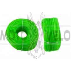 Леска мотокосы Ø2,7mm, 100 метров (косичка, зеленая) BEST