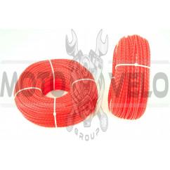 Леска мотокосы Ø3,0mm, 100 метров (косичка, красная) BEST