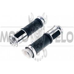 Ручки руля (MONSTER ENERGY, алюминиевые, белые) (mod:2) XJB