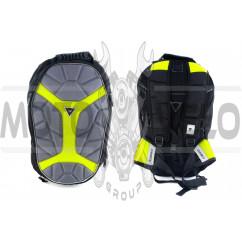 Рюкзак (серый, рисунок желтый X)