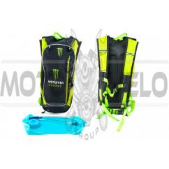 Рюкзак (черно-зеленый) MONSTER ENERGY