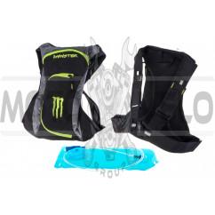 Рюкзак (черно-слатный, накладной карман) MONSTER ENERGY