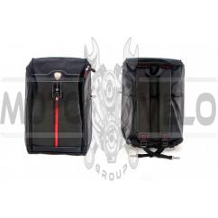 Рюкзак (черный, оранжевая змейка)