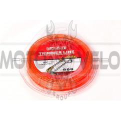 Леска мотокосы   Ø1,6mm, 15 метров   (звезда, красная)   EVO