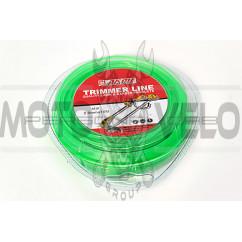 Леска мотокосы   Ø2,0mm, 15 метров   (звезда, зеленая)   EVO