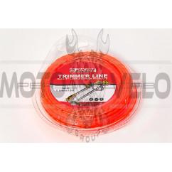 Леска мотокосы   Ø2,0mm, 15 метров   (квадрат, красная)   EVO