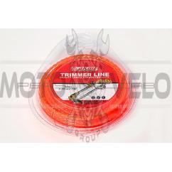 Леска мотокосы   Ø2,4mm, 15 метров   (квадрат, красная)   EVO