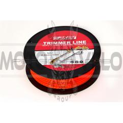 Леска мотокосы   Ø2,4mm, 100 метров   (квадрат, красная)   EVO