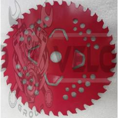 Нож мотокосы   40T   (Ø230/22.4 mm)   (победитовые зубья)   (красный)   SVET