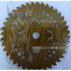Нож мотокосы   40T   (Ø230/22.4 mm)   (победитовые зубья)   (золотистый)   SVET