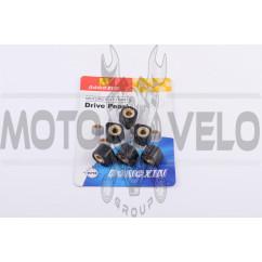 Ролики вариатора (тюнинг) Suzuki 17*12 13,0г (черные) DONGXIN