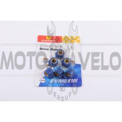 Ролики вариатора (тюнинг) Suzuki 17*12 8,5г (синие) DONGXIN