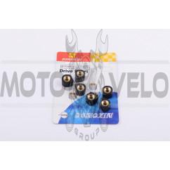 Ролики вариатора (тюнинг) Yamaha 15*12 7,5г (черные) DONGXIN