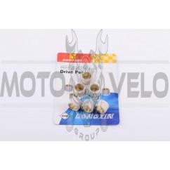 Ролики вариатора Yamaha 15*12 3,5г (белые) DONGXIN