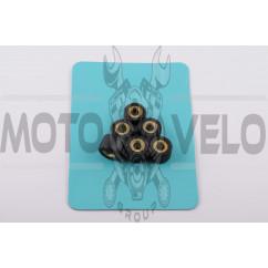 Ролики вариатора Yamaha 15*12 8,5г (черные) RAINBOW