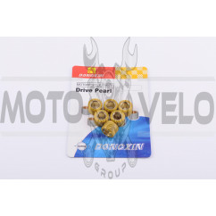 Ролики вариатора Suzuki 16*12 6,5г (желтые) DONGXIN
