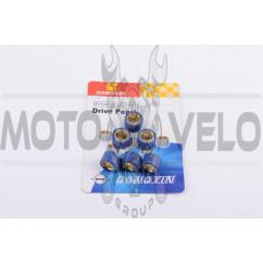 Ролики вариатора Suzuki 17*12 8,5г (синие) DONGXIN