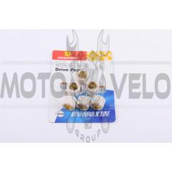 Ролики вариатора 4T GY6 125/150 18*14 10,5г (белые) DONGXIN