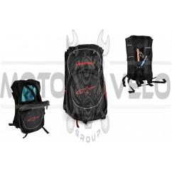 Рюкзак ALPINESTARS (mod:B-5, поилка, термобарьер, черно-красный)