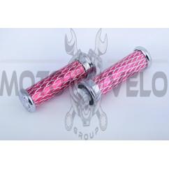 Ручки руля чешуя розовые (орел)   BDRK, пара