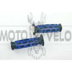 Ручки руля резиновые (черно-синие) (mod.963) LDR