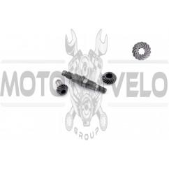 Вал редуктора мотокосы (+шестерни 9Т)