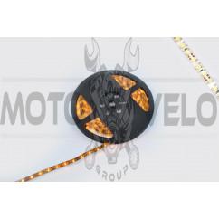 Лента светодиодная SMD 3528 (желтая, влагостойкая, 60 крист/1м, бухта 5м)