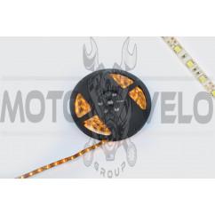 Лента светодиодная SMD 5050 (желтая, влагостойкая, 60 крист/1м, бухта 5м)