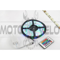Лента светодиодная SMD 5050 (RGB, влагостойкая, 60 крист/1м, бухта 5м) (+ RGB-контроллер)