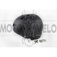 Шлем райдера (size:L, черный матовый) (США) S-ONE