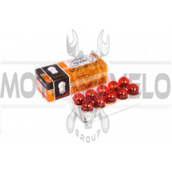 Лампа G18 (поворот, габарит)   12V 5W   (двухконтактная, красная)   ORANGE BOX, шт