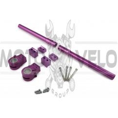 Руль универсальный (клипоны) (фиолетовый) MAXI