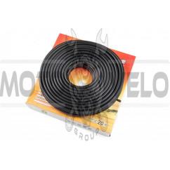 Шланг топливный Ø4mm, 20 метров (резиновый, черный) HTY (mod:B)