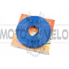 Шланг топливный Ø4mm, 20 метров (силиконовый, синий) HTY