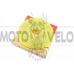 Шланг топливный Ø4mm, 20 метров (силиконовый, желтый) HTY