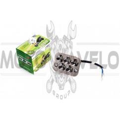 Модуль светодиодный (12W, 5 диодов, RGB-подсветка, 90*66mm)
