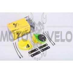 Сигнал (улитка) электрический двухтональный (желтый) (пара) SUV