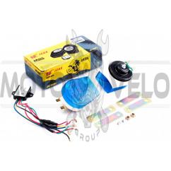 Сигнал (улитка) электрический двухтональный (синие-прозрачные) (пара) JCAA