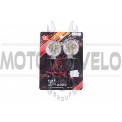 Стробоскоп диодный (2шт, круглые) POLICE, 6 диодов (красный, mod:JC-503) JCAA